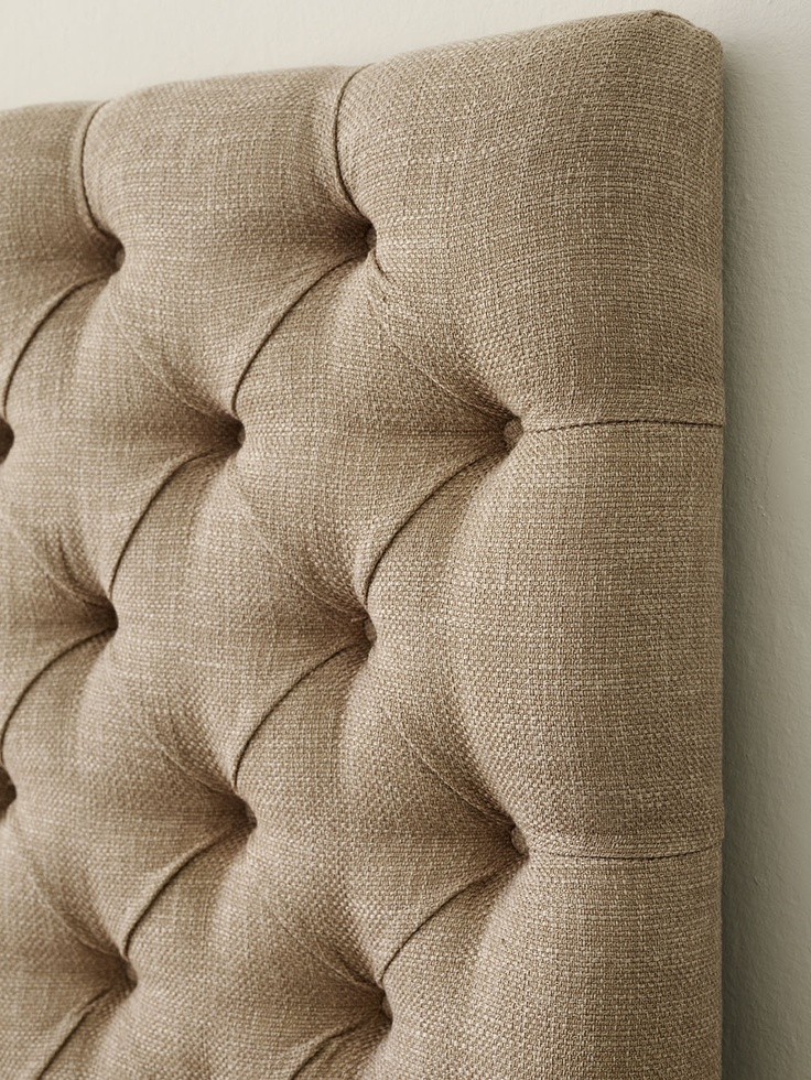 Plain upholstered headboard with deep buttons - The Dormy House