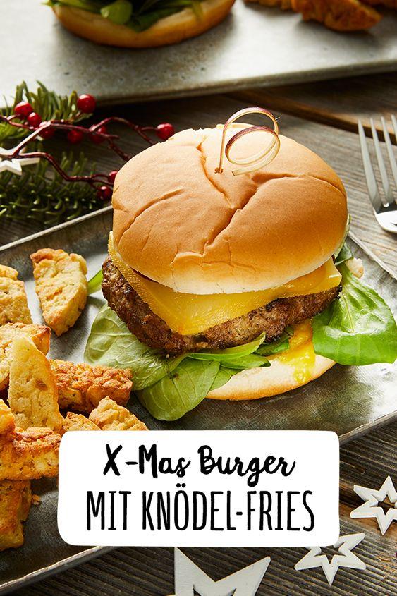 Internationale Weihnachtsessen.X Mas Burger Mit Knödel Fries Rezept In 2019 Recetas Burger