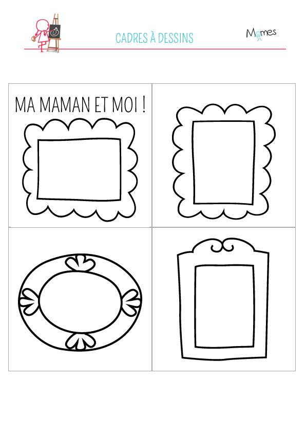 cadre fete des mères à imprimer