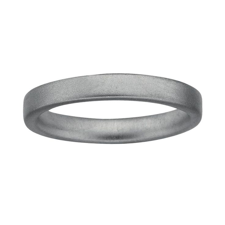 Stacks and Stones Sterling Silver Satin Finish Stack Ring, Women's, Size: 10, Grey
