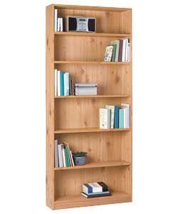 Tall bookshelf. Is it pine?