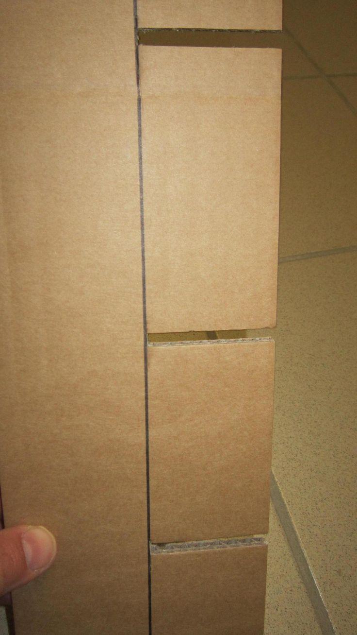 Le découpage des traverses en carton expliqué en images .