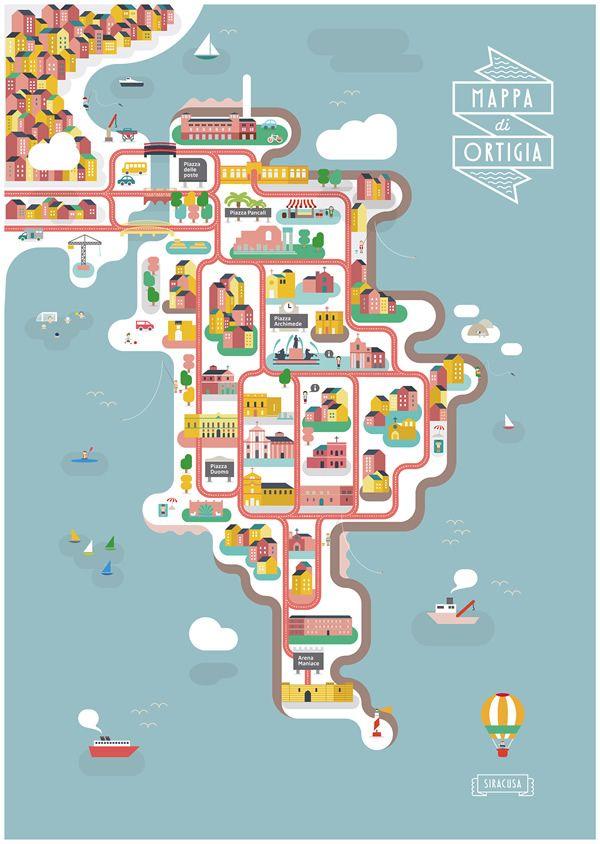 La Mappa di Ortigia è un omaggio ai moderni viaggiatori del Grand Tour.-The Ortigia Map is a tribute to the modern Grand Tourists.