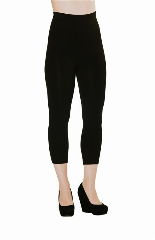 """Bamboo fibre makes this legging perfect for your fitness or fashion wardrobe.  Extra-wide and super-soft 4"""" tummy control band moves with you."""