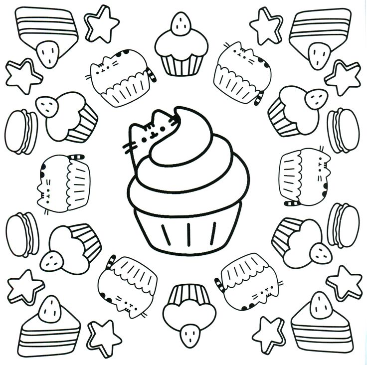 11+ Pusheen hamburger coloring page ideas in 2021