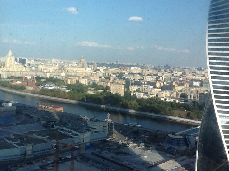 Москва Сити. Башня Федерации Восток. Вид с 31 этажа.