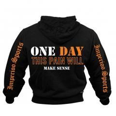 ONE DAY THIS PAIN WILL MAKE SENSE HOOD Sveriges största utbud av träningskläder och gymkläder på nätet. www.bigsamab.se  #Imperioo #Imperioosports #bigsamab.se #träningskläder #gymkläder #motivation