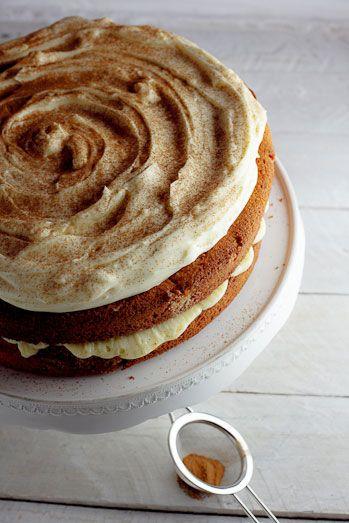 Milk Tart layer cake - Vanilla cake with Milk Tart cream filling | Simply Delicious