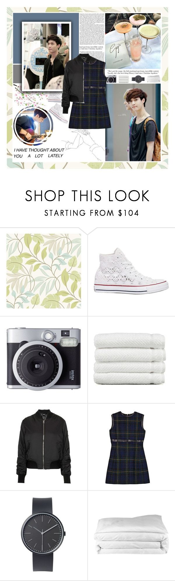 """""""Yixing [ EXO ] ✿ I have thought about you a lot lately ✿"""" by julia-ngo ❤ liked on Polyvore featuring Beacon House, Converse, Fujifilm, Linum Home Textiles, Topshop, CÉLINE, Uniform Wares and Frette"""