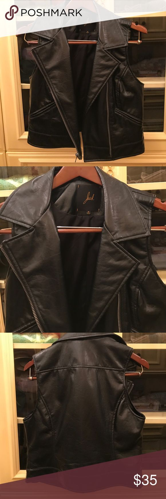 NWOT Jack Motorcycle Leather Vest In perfect condition leather vest with zip size m looks like it would fit size 6-8 Jack by BB Dakota Jackets & Coats Vests