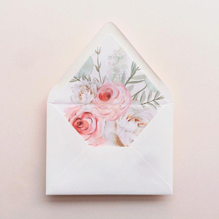 blush bouquet envelope liner