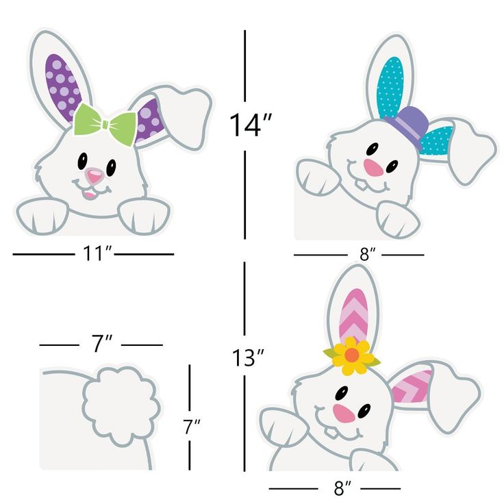 Amazon.com: Easter Bunnies Window Clings/Stickers for Easter Games/ Egg Hunt/ Party Decoration 2018 4 pcs: Toys & Games