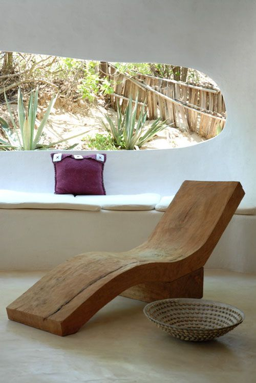♂ The Organic living simple wood relaxing chair