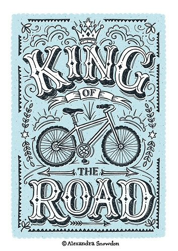 King of the Road Illustration by Alexandra Snowdon, via Flickr