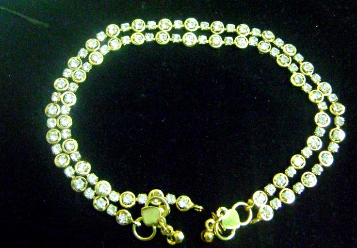 Buy Golden Stone Anklet at Rs. 156.00 only.. visit here- http://shwetajewelry.com/product/golden-stone-anklet/