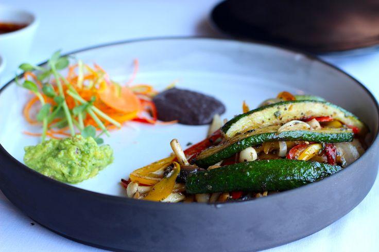 Calabacines Y Hongos Tacos - Mushroom & Zucchini Fajitas with soft handmade Tortillas @ R135 @DELMARbukhara