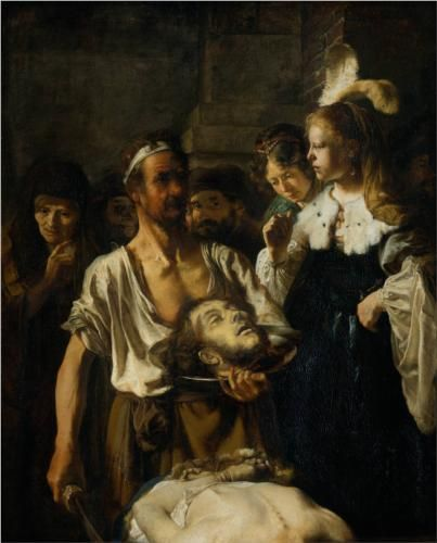 The Beheading of John the Baptist - Rembrandt
