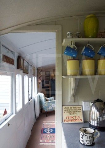 Whin Bridge Railway Carriage House Eype Dorset Carriage interior