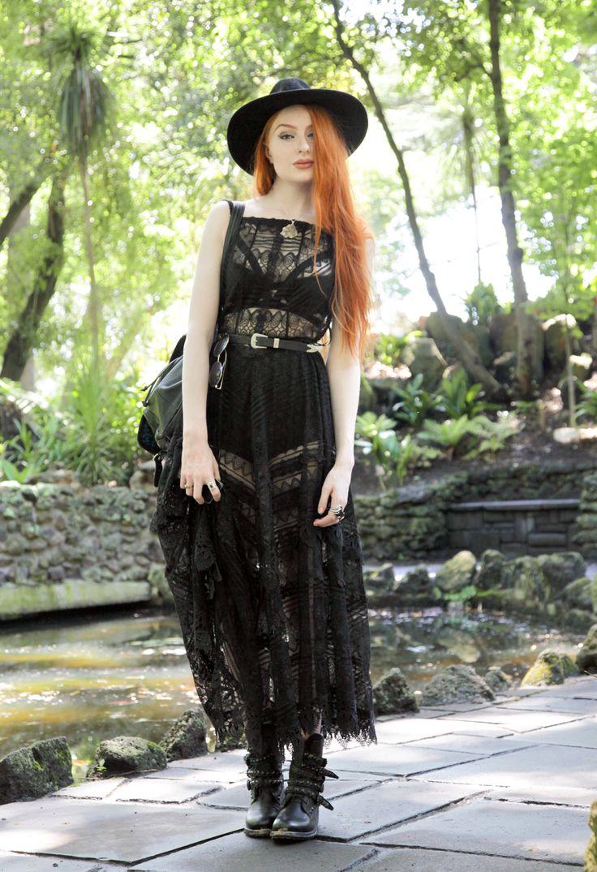 Catarzi Wide Brim Fedora - Asos Strappy Bra - Asos Free People Lace Slip Dress - Asos Western...