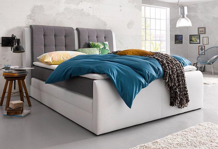 Boxspringbett »Rubene«, inkl. Bettkasten und Topper ab 399,99€. Komfortables…