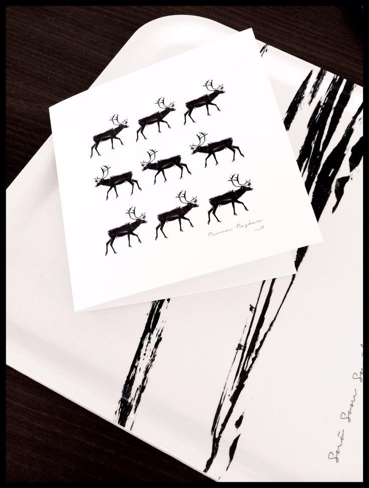 """Ett """"rent"""" konstkort passar fint till vårvinterns bästa bricka. """"Snö Som Smälter"""".  Fröken Snö gillar den femte årstiden i fjällen, fast snön smälter ;-)"""