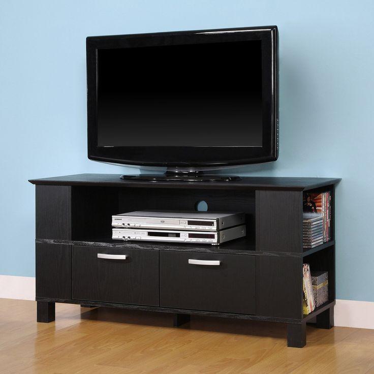 amazoncom walker edison columbus tv console black television stands amazon