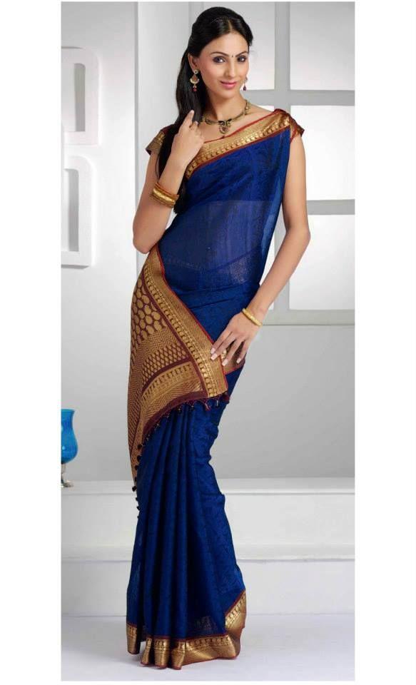 Un sari sencillo pero muy hermoso