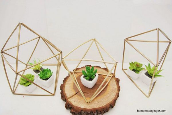 DIY: decorazioni geometriche fai da te | Wedding Wonderland