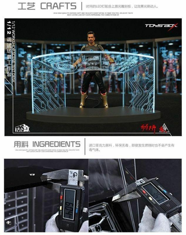 TOYS-BOX 1//12 Comicave 6/'/' SHF Iron Man Workshop Scene Test Desk Table Model