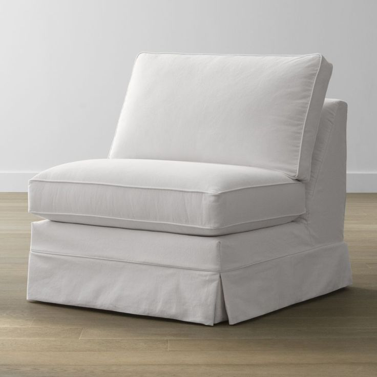 Slipcover Only for Harborside Armless Chair - Crate and Barrel