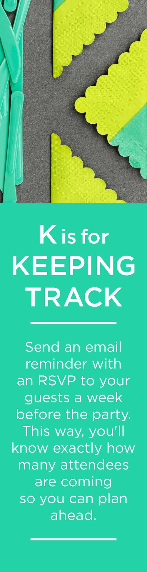 K is for KEEPING TRACK