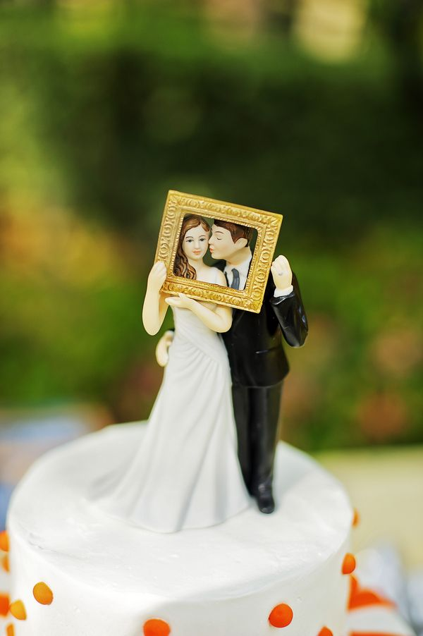 Adorable wedding cake topper!