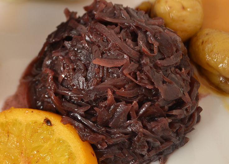 Rotkraut - Raffiniertes Rotkraut Rezept mit Orangensaft und Rotwein, abgeschmeckt mit Ribiselgelee