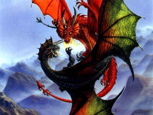 Поединок драконов | Галерея драконов, изображения драконов, картинки драконов, рисунки драконов