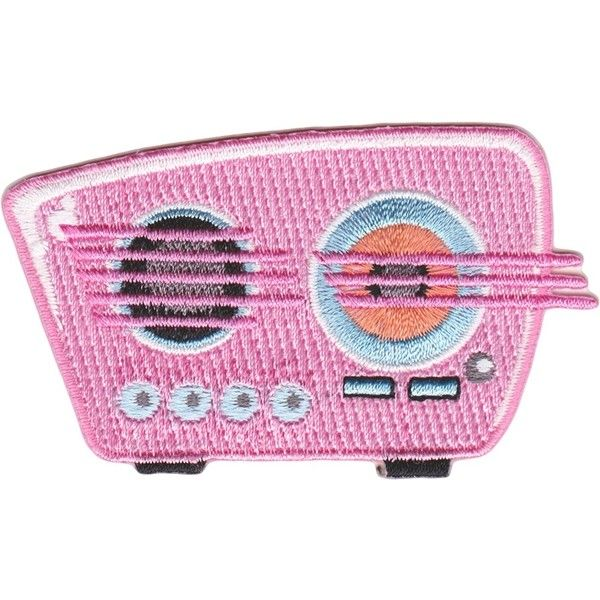 RETRO PINK RADIO PATCH (111.790 VND) ❤ liked on Polyvore featuring accessories, fillers and patches
