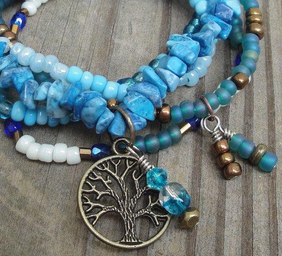 TRANQUILITY  Multistrand Boho Gypsy Hippie by GracefulFrog on Etsy
