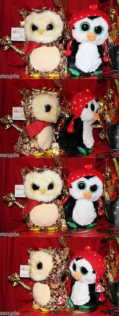 Current 1628: Ty Beanie Boos 2 Of 1 Wise Owl + 1 Freeze Penguin Christmas Boos-Mwnmt-Nice Gift -> BUY IT NOW ONLY: $45 on eBay!