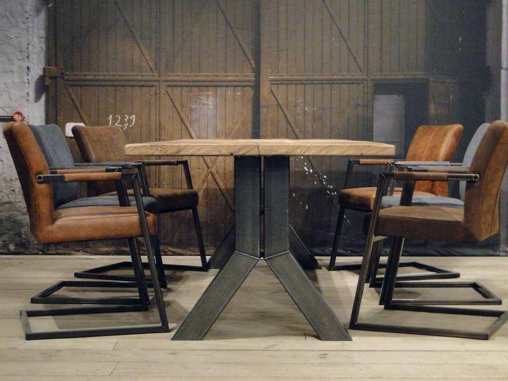 Industriele tafel Medici - ROBUUSTE TAFELS! Direct uit voorraad of geheel op maat >>