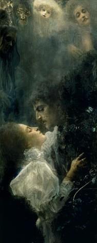 """PIntura de Gustav Klimt - """"Love"""""""