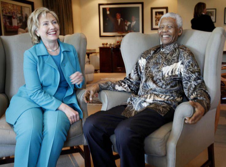 Hilary Clinton with Nelson Mandela