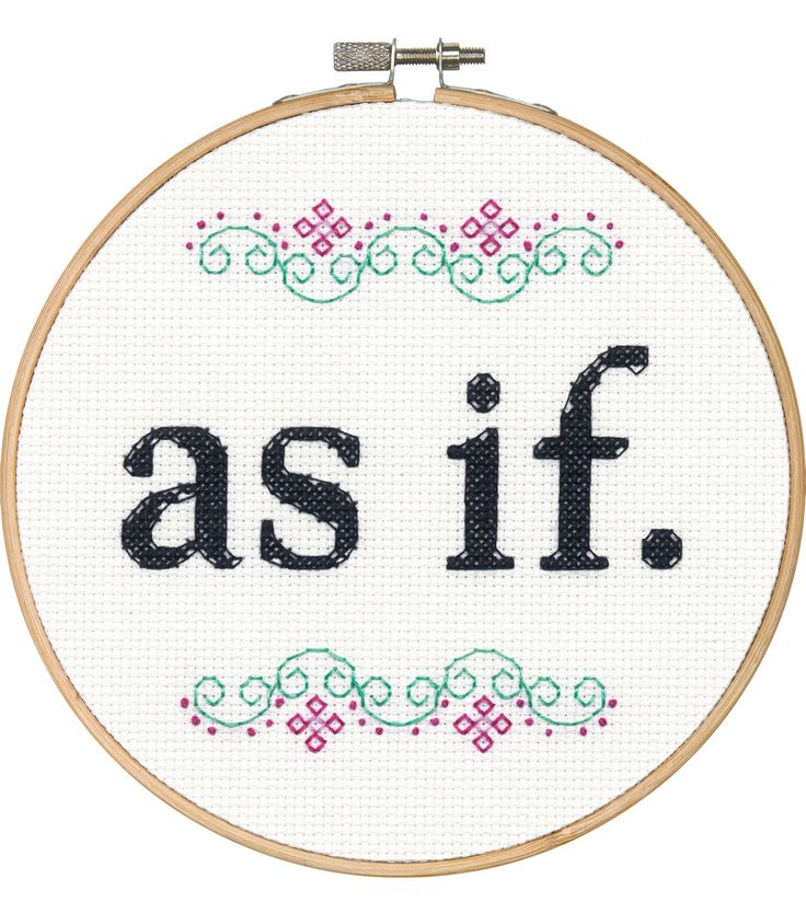 Say It! in cross stitch-As If