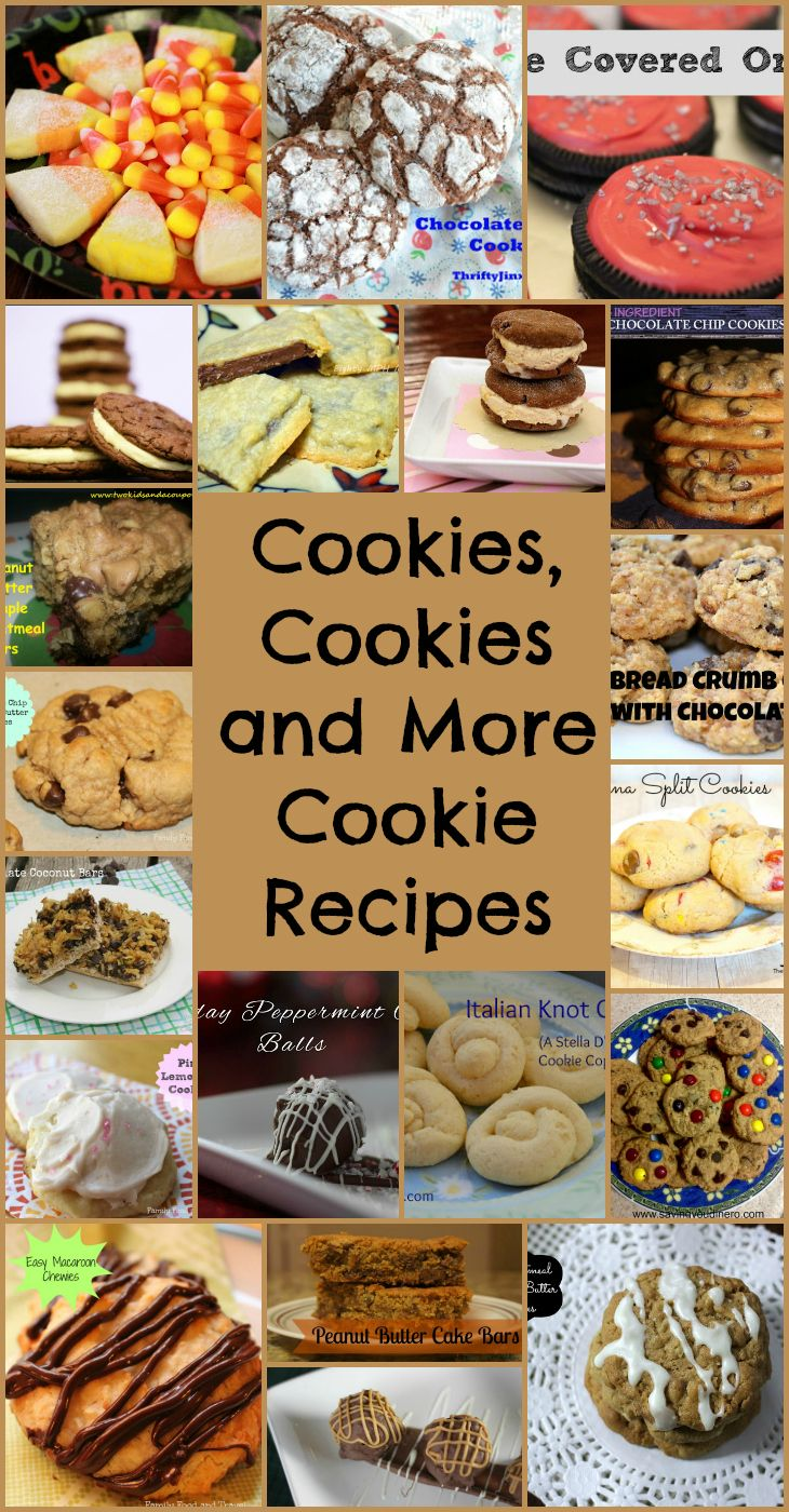 Cookies, Cookies and More Cookie Recipes
