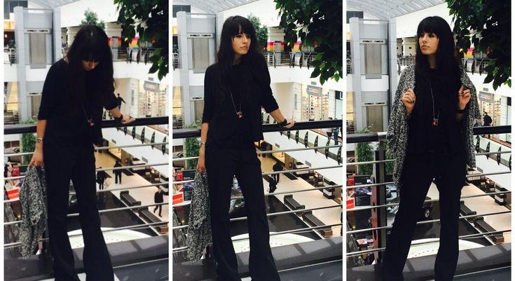 BLACK MEETS BLACK! Flare ZARA pants + casual NY shirt - Closer to Fashion