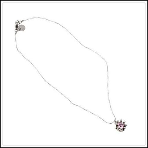 Halsband från Pearls for Girls med en krona och rosa kristall