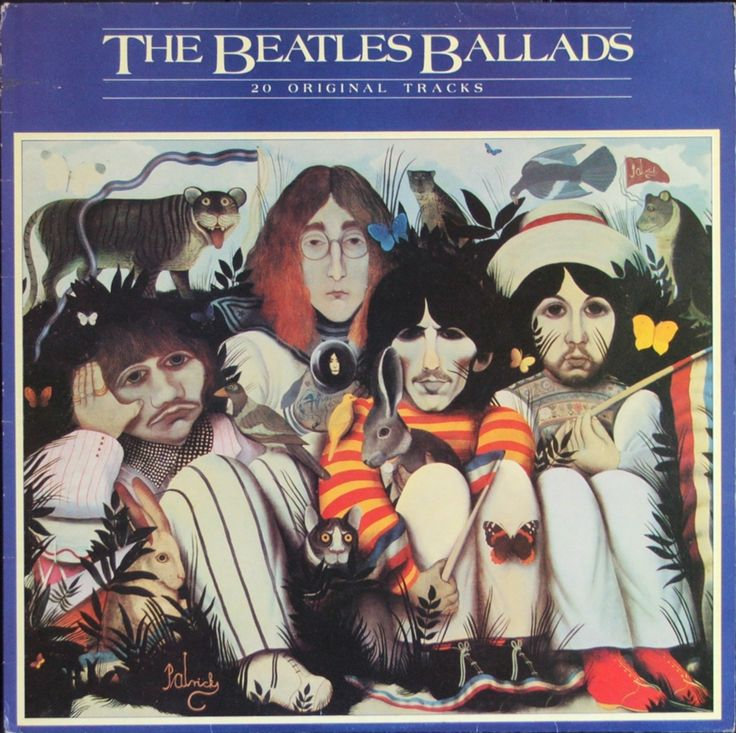 John Byrne 1980 The Beatles - The Beatles Ballads [Parlophone PCS-7214] #albumcover