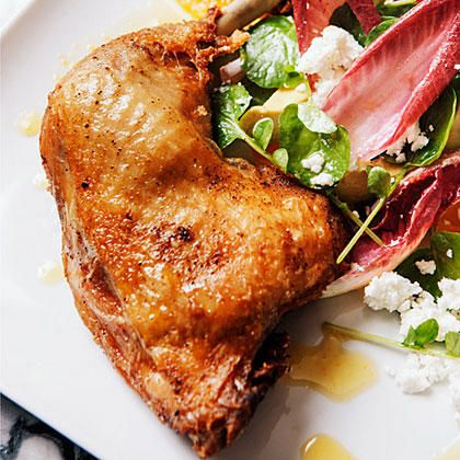 Impress family and friends with Crisp Chicken Confit. Although it takes a while to prepare, it is definitely a dish worth waiting for. This method for confit works for duck or rabbit too.