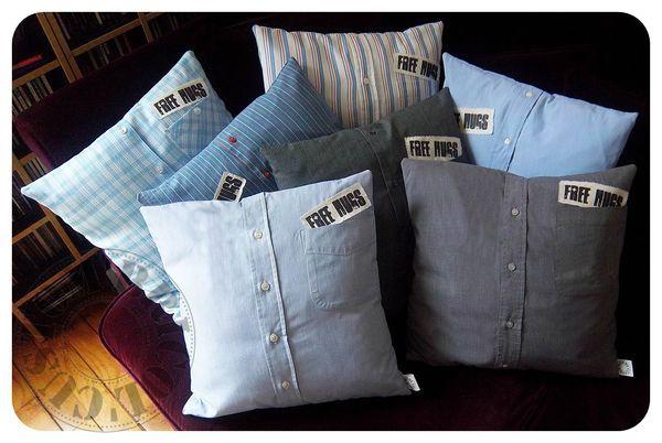 transformer de vieilles chemises en coussin