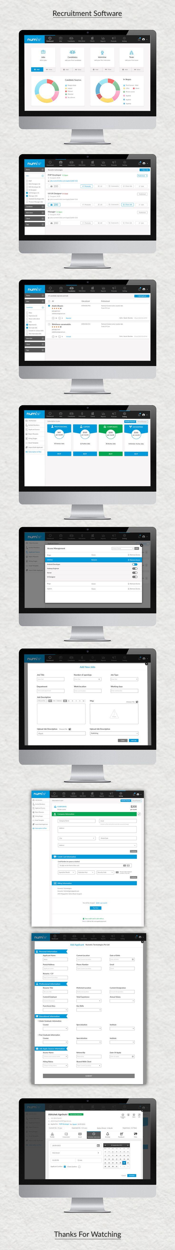 Recruitment Software on Behance