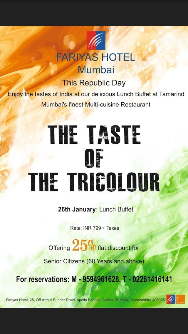 This #Republic #Day Enjoy the tastes of India at our ...
