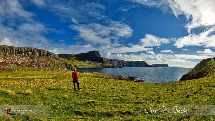 Scotland Neist Point Selfie